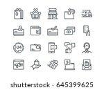 e commerce. set of outline... | Shutterstock .eps vector #645399625