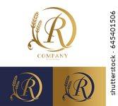 rice logo vector   Shutterstock .eps vector #645401506