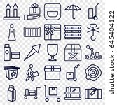 package icons set. set of 25... | Shutterstock .eps vector #645404122