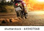 man riding sport touring... | Shutterstock . vector #645407068