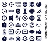 hour icons set. set of 36 hour... | Shutterstock .eps vector #645407602