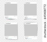 set of vector template photo...   Shutterstock .eps vector #645408772