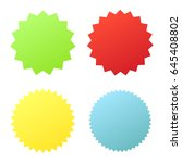 set sunburst badges. collection ... | Shutterstock .eps vector #645408802