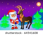 the illustration santa claus... | Shutterstock . vector #64541608
