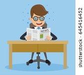 businessman in suit wear... | Shutterstock .eps vector #645416452