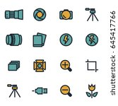 vector flat photo icons set on... | Shutterstock .eps vector #645417766