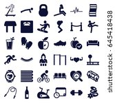 lifestyle icons set. set of 36... | Shutterstock .eps vector #645418438