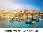 marsaxlokk  malta   traditional ... | Shutterstock . vector #645424636