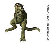 3d rendering of a dinosaur... | Shutterstock . vector #645429802