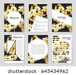 abstract vector layout... | Shutterstock .eps vector #645434962