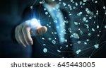 businessman on blurred...   Shutterstock . vector #645443005