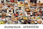 big collage with different fast ... | Shutterstock . vector #645443536