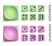 playing dice set. 3d realistic... | Shutterstock . vector #645446836