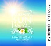 sea vacation. summer blur... | Shutterstock .eps vector #645447772