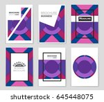 abstract vector layout... | Shutterstock .eps vector #645448075