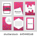 abstract vector layout... | Shutterstock .eps vector #645448168