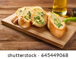 Tasty Bread With Garlic  Chees...