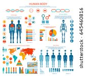 human body infographic. vector... | Shutterstock .eps vector #645460816