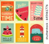 summer time  vacation mini... | Shutterstock .eps vector #645461776