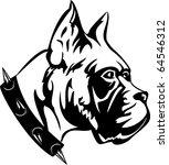 the vector black and white...   Shutterstock .eps vector #64546312
