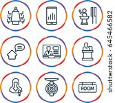 conference icons set. set of 9... | Shutterstock .eps vector #645466582