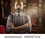 portrait of a barber.... | Shutterstock . vector #645467116