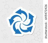vector flat sticker circle... | Shutterstock .eps vector #645472426