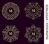 vintage monogram design... | Shutterstock .eps vector #645474826