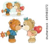 vector illustration of a pair... | Shutterstock .eps vector #645481072