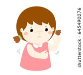 girl with health problem... | Shutterstock .eps vector #645490276