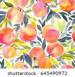 bright seamless pattern with... | Shutterstock . vector #645490972