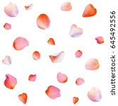 background with rose petals.... | Shutterstock .eps vector #645492556
