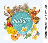 india vector illustration.... | Shutterstock .eps vector #645494905