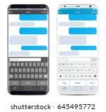 smartphone chatting sms app... | Shutterstock .eps vector #645495772