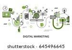 modern flat thin line design... | Shutterstock .eps vector #645496645
