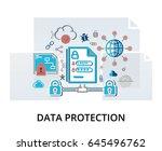 modern flat thin line design... | Shutterstock .eps vector #645496762