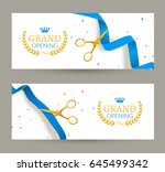 grand opening invitation banner.... | Shutterstock .eps vector #645499342