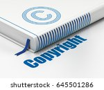 law concept  closed book with... | Shutterstock . vector #645501286