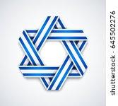 star of david made of... | Shutterstock .eps vector #645502276