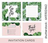 wedding invitation card.... | Shutterstock .eps vector #645502462