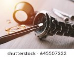 watch battery replacement ... | Shutterstock . vector #645507322