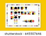 flat style fathers day greeting ... | Shutterstock .eps vector #645507646