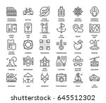 vector set of leisure and... | Shutterstock .eps vector #645512302