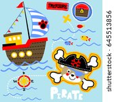 pirate the treasure hunter ... | Shutterstock .eps vector #645513856