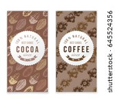 coffee and cocoa vertical...   Shutterstock .eps vector #645524356