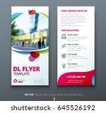 dl flyer design. corporate... | Shutterstock .eps vector #645526192