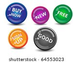 collection of glossy buttons... | Shutterstock .eps vector #64553023