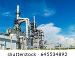oil and gas industry refinery... | Shutterstock . vector #645534892