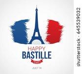 happy bastille day vector... | Shutterstock .eps vector #645539032