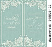 wedding vintage invitation card ... | Shutterstock .eps vector #645539422